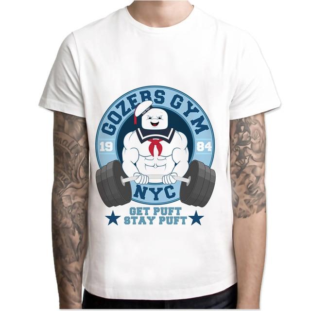 T Hommes Blanc Shirt Garçon Anime Ghostbusters VpSGzqUM