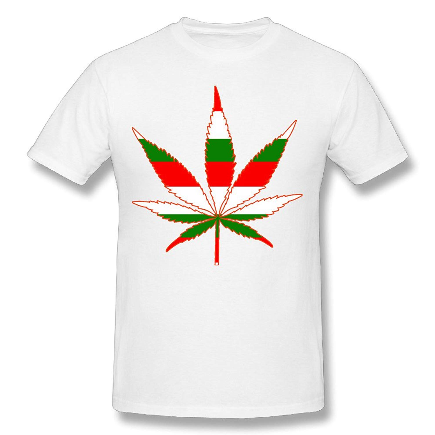 Men's Weed Hungary Flag 100% Cotton Prints Casual Short Sleeve T-Shirt Tees Brand Clothing Funny T Shirt top tee