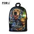 2016 venta caliente niños mochilas escolares para adolescentes boys & girls rock perro animales de zoológico impresión hombres mochila escolar bolsa lobo mochilas