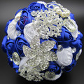 Hot Sale Gorgeous Silk Roses Wedding Accessories Pearl Beaded Brooch buque de noiva Wedding Flowers Bridal Wedding Bouquet