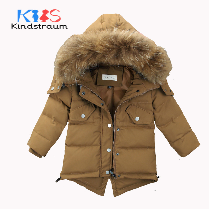 Kindstraum Super Warm Kids Down Jacket for Winter Boys Girls Duck Down Solid Coat Fashion Children Brand Hooded Outwear, MC850 kindstraum 2017 fashion kids winter jacket cotton new boys girls warm hooded coat children casual dinosaur outwear printed mc802
