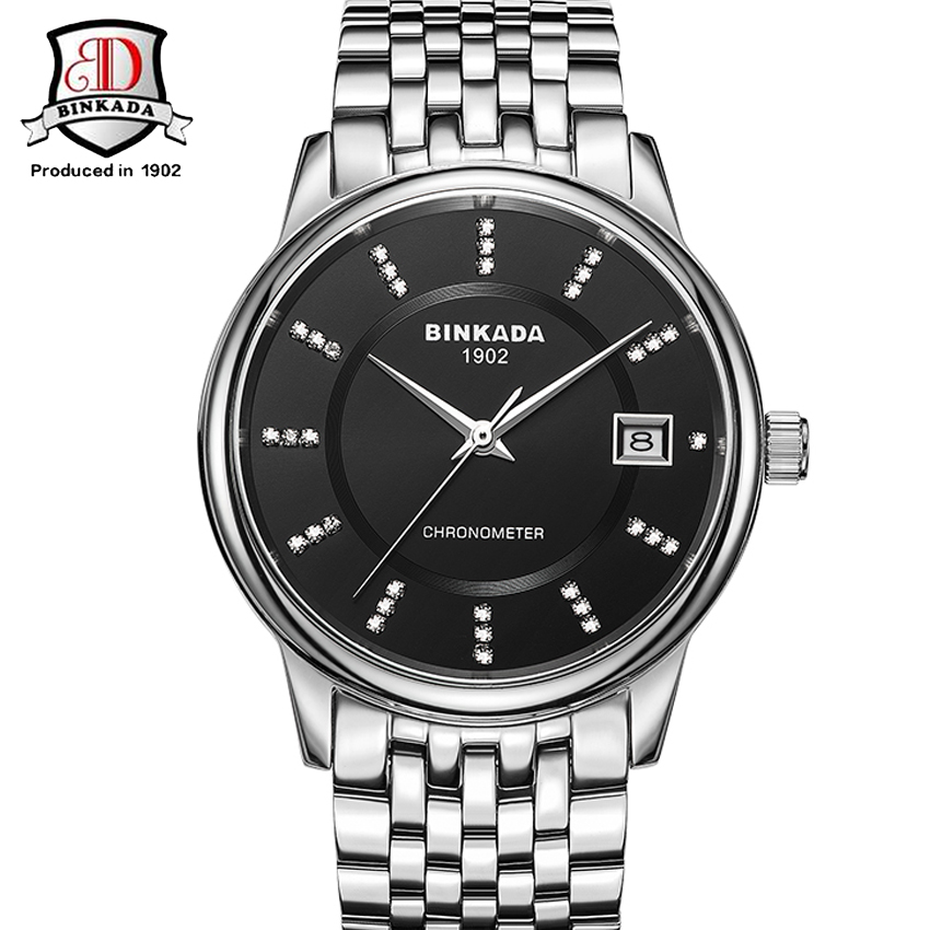 BINKADA Mens Automatic Mechanical Watches Clock Gold Watch Men's Wristwatches High Quality Wristwatches reloj hombre superior t winner automatic watch mens trendy mechanical auto windding silicone band wristwatches modern elegant analog hollow clock gift