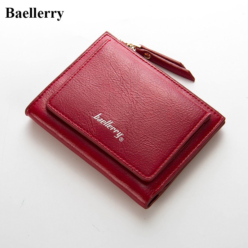 Luxury Brand Leather Wallets Women Wallets Fashion Hasp Short Zipper Coin Purses Money Card Holders Clutch Bags Wallets Female famous brand leather wallets men small casual vintage short purses male credit card holders hot sale creative design money bags