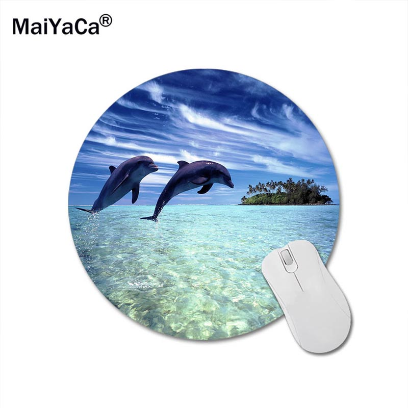 MaiYaCa Dolphin Round 200*200*2mm Mouse Pad Mousepad Computer PC Laptop Comfort Gaming Mouse Pad