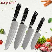 DAMASK Damascus Knife Set Kitchen Knives Japanese Chef Knife VG10 Damascus Steel 67 Layers Blades Cutter Santoku Cooking Knives