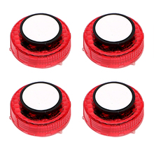 4pcs/Set Flashing LED Warning Lamp Auto Strobe Traffic Light Red Car Door Lights Anti Collision Magnetic Control Car-styling
