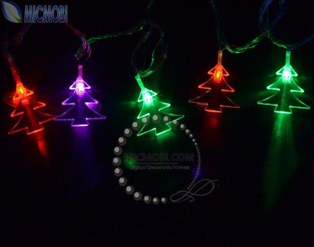 Good High Quality 220V 5M 30 LED Christmas Tree Shaped RGB String Lights,  Holiday Lamps Xmas