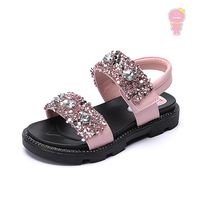 Summer girls sandals kids beach shoes children fashion shoes baby shoes Faux Crystal glitter soft sole 3 to 13 yrs