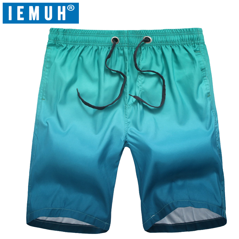 IEMUH New Hot Beach   Shorts   Plus Size Mens Brand Surf Sport Boardshorts Men   Board     Short   Quick Dry Bermuda