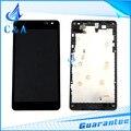 10 peça testado dhl/ems post parte substituição 2 s para nokia lumia 535 n535 display lcd + de toque digitador da tela com montagem de quadro