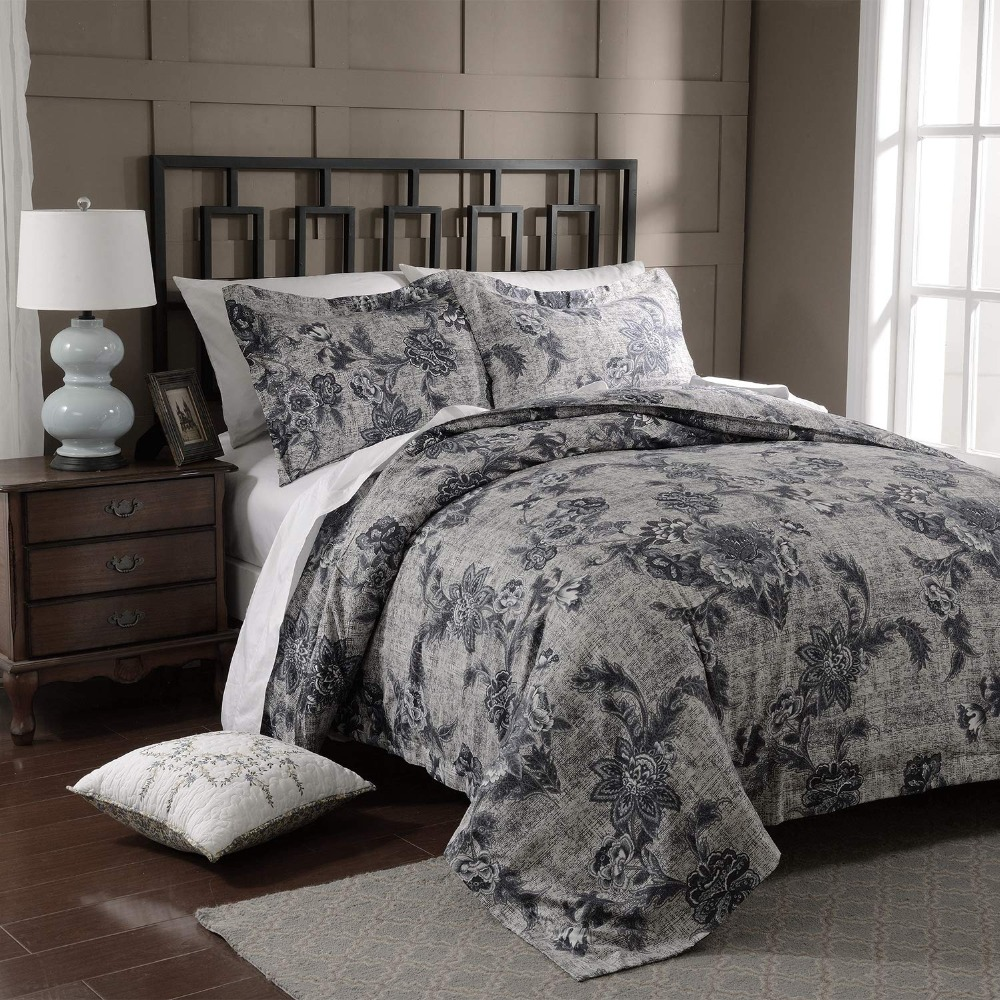 Us 28 99 Freeshipping Deal 3pcs Duvet Cover Set Microfiber Luxury Printed Navy Blue Include Quilt Pillow Cases Twin Queen King In Bedding