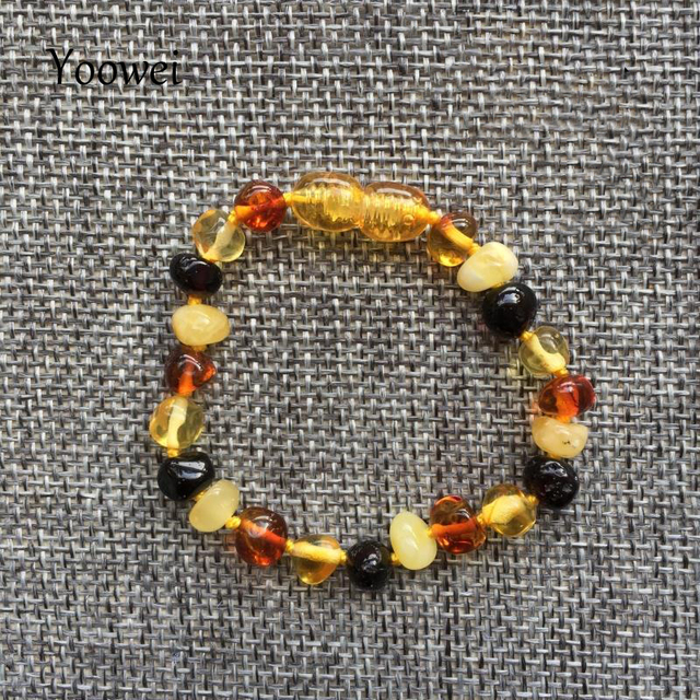 Yoowei Baby Teething Amber Bracelet for Boys Girl Best Women Ladies Gift Natural Baltic Amber Jewelry Adult Anklet Sizes 13-23cm 4