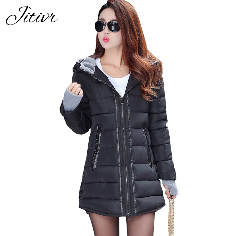 2017 New Women s Coats Casual Slim Fashion Hooded Fall Winter Jacket For Female High Quality