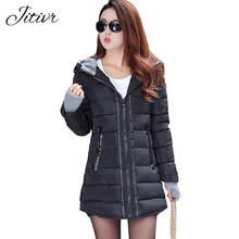 2017 New Women's Coats Casual Slim Fashion Hooded Fall  Winter Jacket For Female High Quality With Zipper Plus Size Lady Parkas