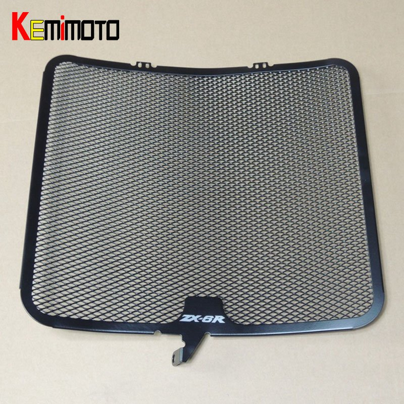 KEMiMOTO ZX 6R Aluminum Radiator Guard Cover Grille for Kawasaki ZX-6R 2009 2010 2011 2012 2013 2014 ZX6R Oil Cooler Protector kemimoto 2008 2014 cbr 1000rr aluminum radiator grille grills guard cover for honda cbr1000rr 2008 2009 2010 2011 2012 2013 2014