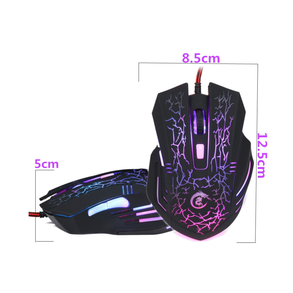 Image 3 - HXSJ A904 LED Backlit Gaming Mouse USB Wired Mouse Adjustable 5500 DPI 6 Buttons optical Mouse for PC Laptop LOL DOTA Game-in Mice from Computer & Office