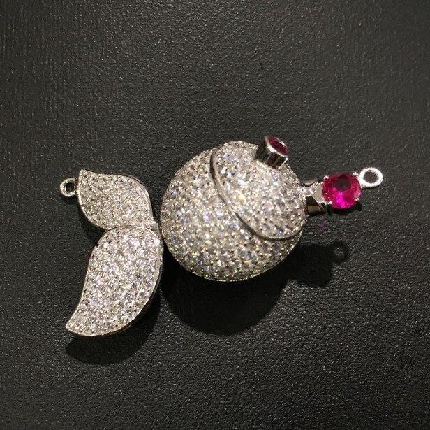 Bijoux à bricoler soi-même recherche et composants fermoir poisson 925 argent avec zircon cubique connecteur de collier mode femmes bijoux