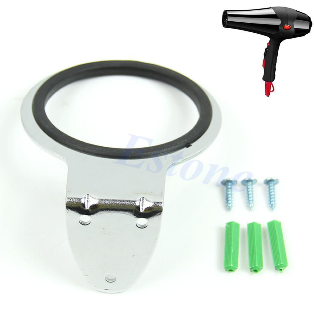New Arrive Stainless steel Hair Dryer Stand Holder Iron Blower Wall Mount Bracket Bathroom Organizer