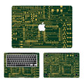 PCB Panel Laptop Decal 3 in1 Set for Apple MacBook Sticker Air/Pro/Retina 11 12 13 15 Full Body Protective Cover Notebook Skin