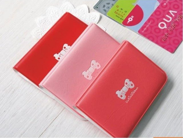 Free Shipping  New PVC Bow card bag 4 color can choose Card & ID Holders IC bag  /kid Gift  20pcs/lot  HOT