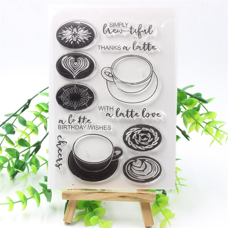YPP CRAFT Coffee Cup Transparent Clear Silicone Stamps for DIY Scrapbooking/Card Making/Kids Fun Decoration Supplies ypp craft post card transparent clear