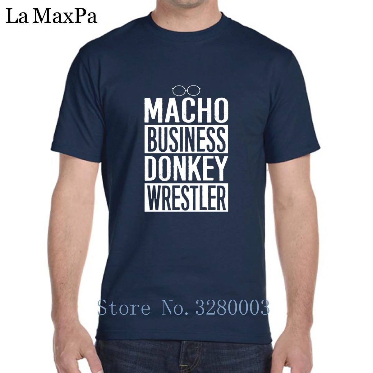 Персонализированные Новая модная футболка Для мужчин новости Радио мачо Бизнес осел борец Для мужчин s футболка Демисезонный футболка Для ...