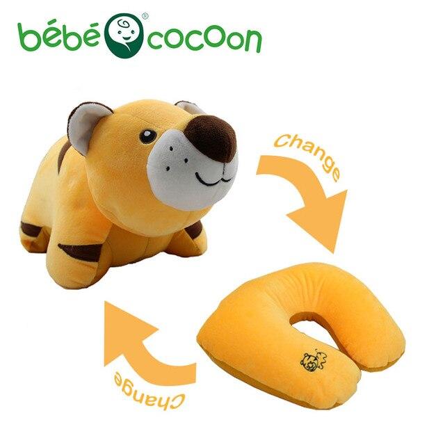 Bebecocoon Animal Convertible Ushaped Neck Pillow Stuffed Plush Toy Decorative Pillows Multifunctional Travel Soft Cushion