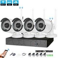 Plug and Play 4CH 1080 P HD Беспроводной NVR комплект P2P 960 P внутренний наружный IR Ночное Видение безопасности 1.3MP IP Камера WI-FI CCTV Системы