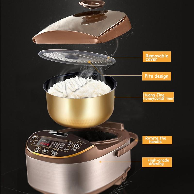 Cuiseur à riz Intelligent domestique 5L cuiseur à riz électrique cuiseur à riz multifonctionnel cuiseur à riz 770 W 220 V