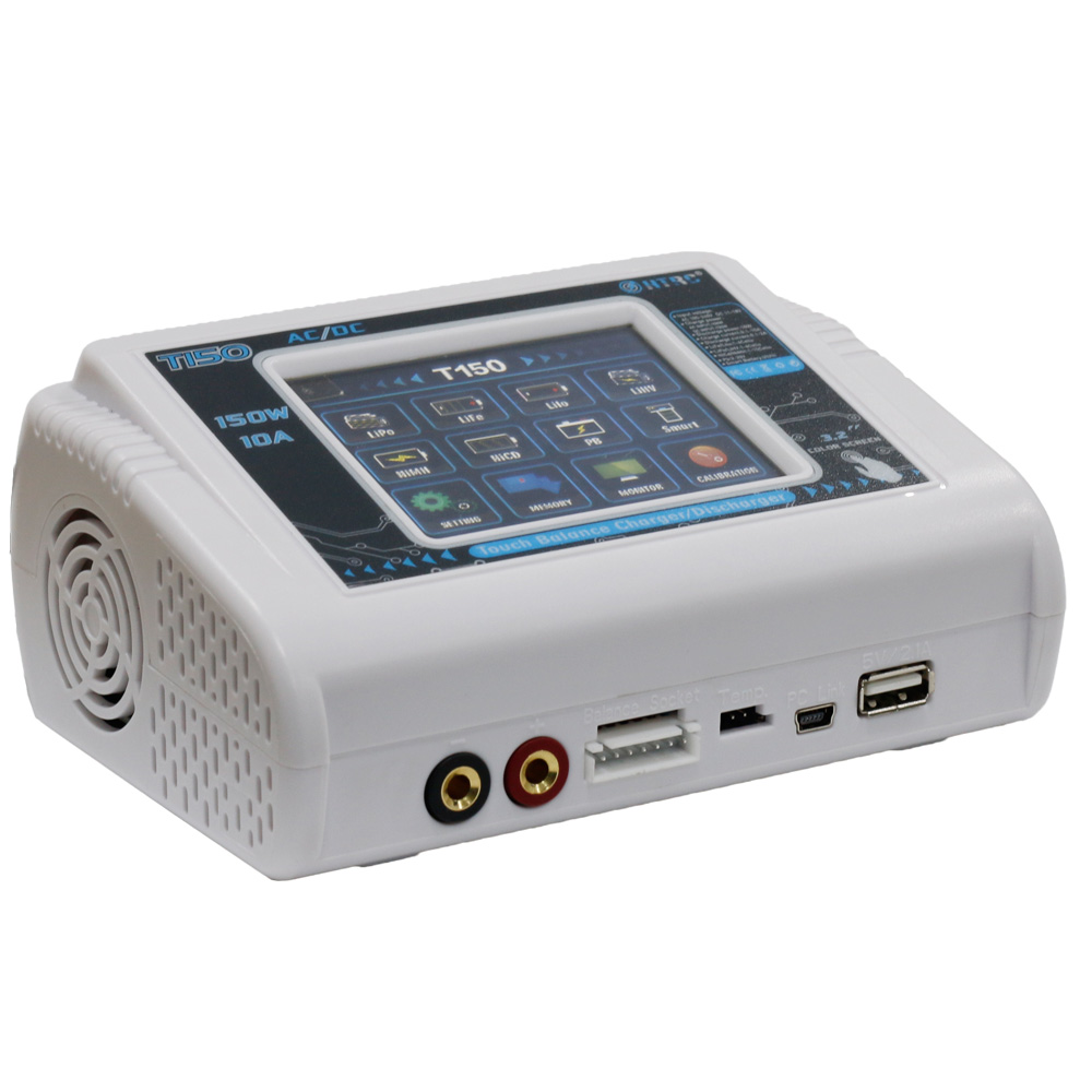 HTRC T150 AC/DC 150 watt 10A Touchscreen RC Balance Ladegerät entlader für LiPo LiHV Leben Lilon NiCd niMh Pb batterie