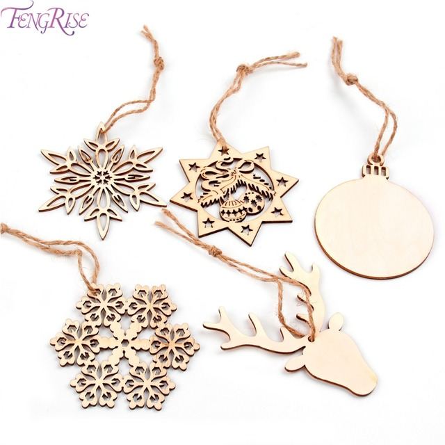Diy Weihnachten 2019.Us 2 33 10 Off Fengrise 10pcs Christmas Tree Ornaments Snowflake Deer Star Bell Diy Wooden Pendants Christmas Party Decor New Year 2019 Gifts In
