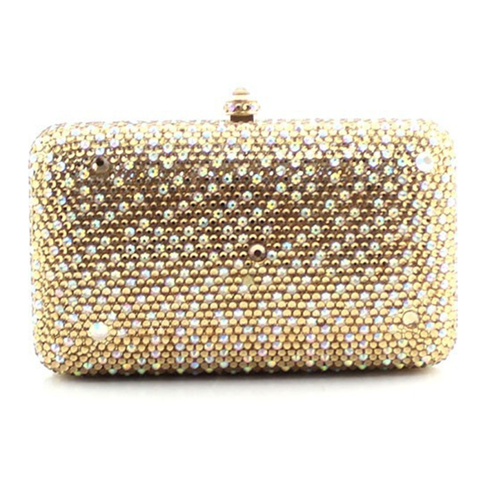 XIYUAN BRAND Luxury Woman plain Evening Bag Fashion Shiny Diamond Crystal Clutch purse Women Party Bridal Wedding Box Clutches