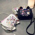 2017 New Hot Fashion Women Female Korean Cartoon Printing Kitten Chains Casual Cute Handbags Shoulder Bags Messenger Bag