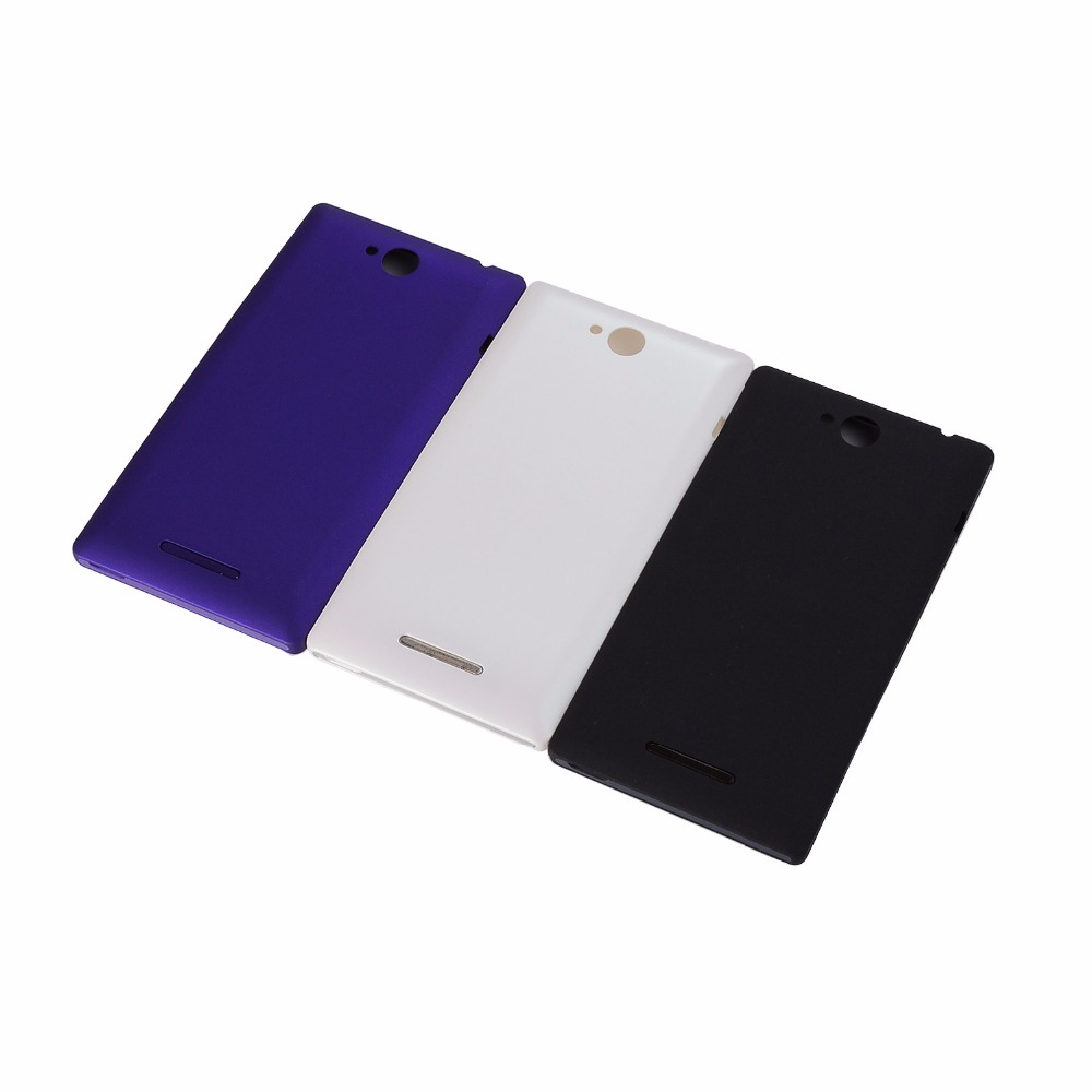 For Sony Xperia C C2304 S39 C2305 S39h Housing Battery Door Back Cover Case With Side Button