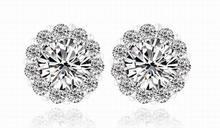 Luxury AAA Cubic Zirconia Women's Stud Earrings Fashion Small Earrings Wedding Jewelry Femme Fine Jewelry Hot