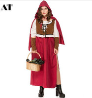 Little Red Riding Hood Costume for Women Fancy Adult Halloween Cosplay Fantasia