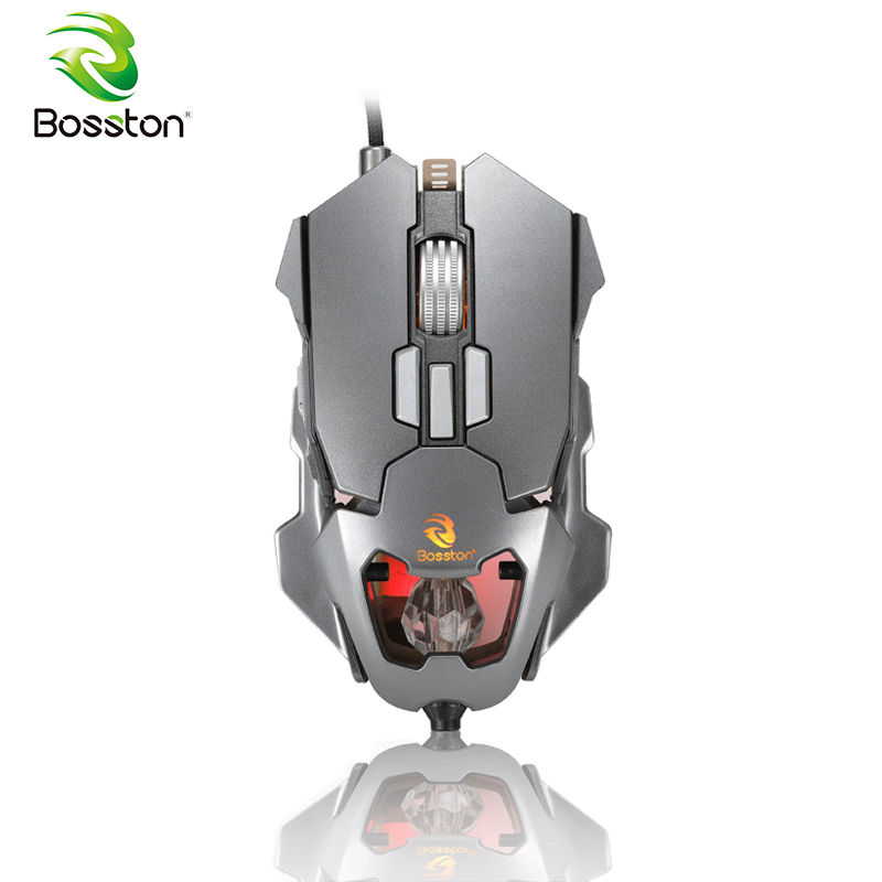 US $21 57 17% OFF|Bosston Gaming Mouse 3D Steelseries 3200 DPI Programming  Gamer Mice for Gaming PC Laptop USB Wired Mouse GM650-in Mice from Computer