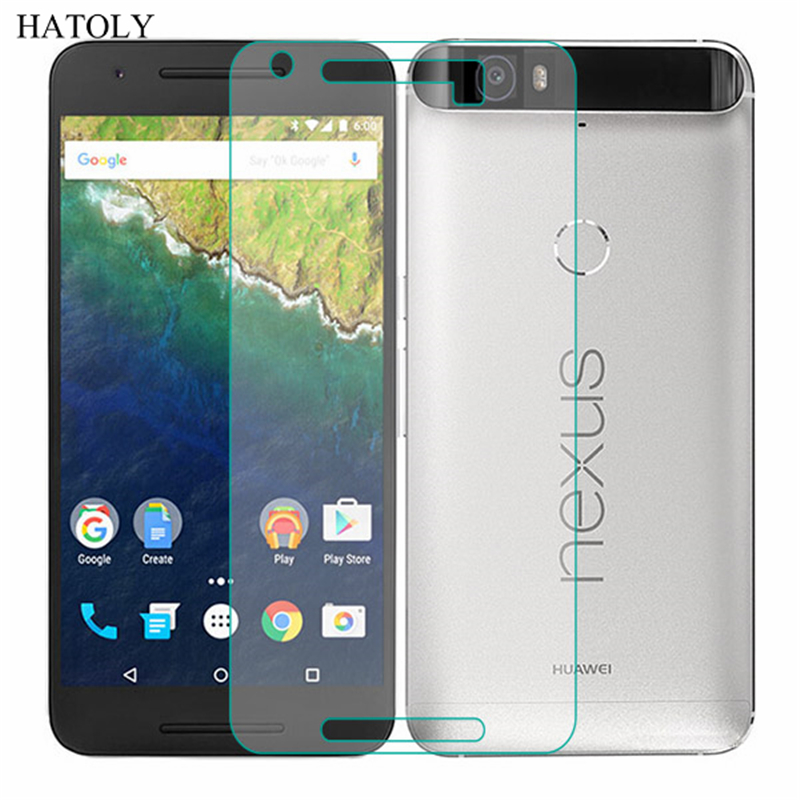 2PCS Tempered Glass For Huawei Nexus 6P Ultra-thin Screen Protector for Huawei Nexus 6P HD Toughened Protective Film HATOLY