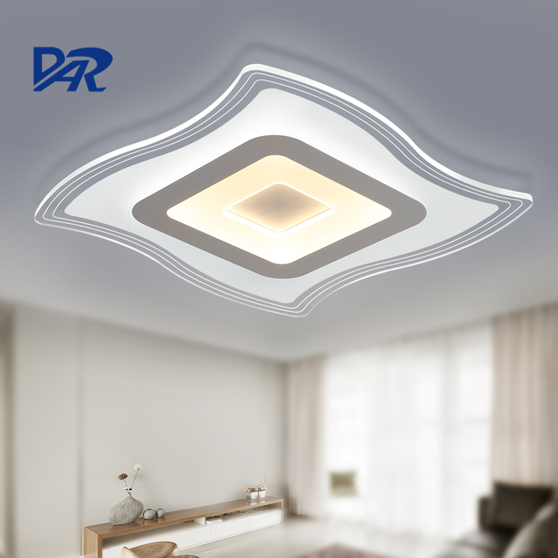 2017 modern acrylic led ceiling lights for living room ultrathin ceiling lamp home decorative lighting fixtures lampara techo noosion modern led ceiling lamp for bedroom room black and white color with crystal plafon techo iluminacion lustre de plafond