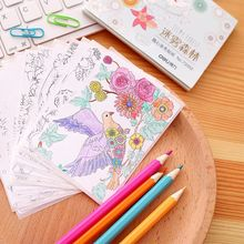1 Pack 15 Sheets Self Adhesive Coloring Drawing Sticker 105x70mm Filmy Forest Deli 73352