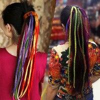 Karayip Dreadlock Korsan Peruk El Yapımı Saf Yün Dreadlocks Saç Bandı DIY Fantezi Elbise Kostüm Aksesuar