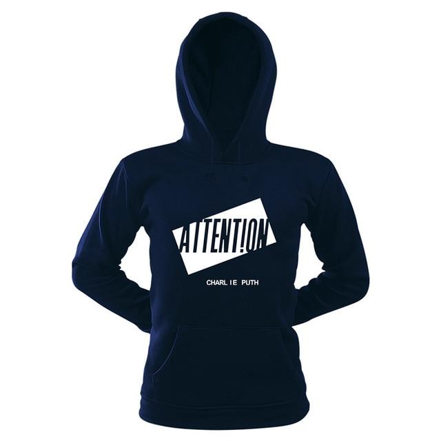a5723f76378 Women Long Sleeve 100% Cotton Hoodie Sweatshirt Charlie Puth Kpop Hip-hop  Hooded Hoody Pullovers Casual Loose Fleece Sweat Femme
