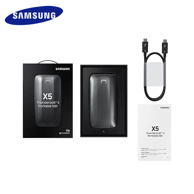 Samsung SSD External X5 2TB 1TB 500GB External Solid State HDD Hard Drive Thunderbolt 3 (40Gbps) and backward compatible Phone 5