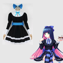 161739fb934 Japanese Anime Panty   Stocking with Garterbelt Stocking Role Cosplay  Costume Clothes Maid Uniform Suit Dress
