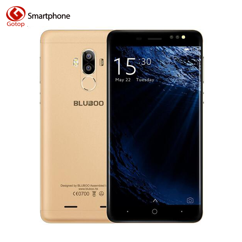 Original Bluboo D1 5.0 Inch Smartphone Android 7.0 MTK6580A Quad Core Mobile Phone 2GB RAM 16GB ROM Dual Back Camera Cell Phone