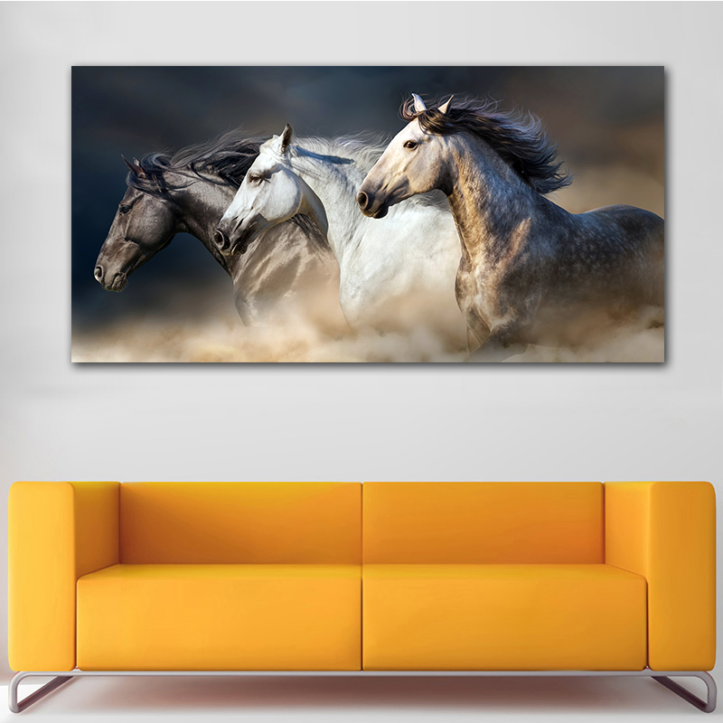 HTB1znNUTpzqK1RjSZFoq6zfcXXaq GOODECOR The Running Horse Canvas Art Animal Wall Art Poster Pictures For Living Room Home Decor Wall Canvas Print Painting