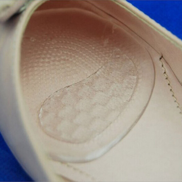 1 Pair New Clear Gel Silicone Cushion Woman Ladies Girls High Quality Soft Shoe Pads Insoles Inserts Foot Care vsen wholesale hot style1 pair of adjustable gel silicone correction shoe inserts clear