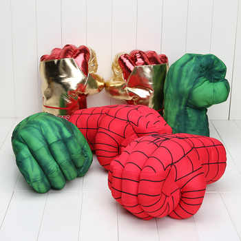 """Incredible Huge Alliance Hulk gloves Smash Hands +New Cosplay Spider Man Soft Plush Glove approx 10\"""" 26cm - Category 🛒 Toys & Hobbies"""