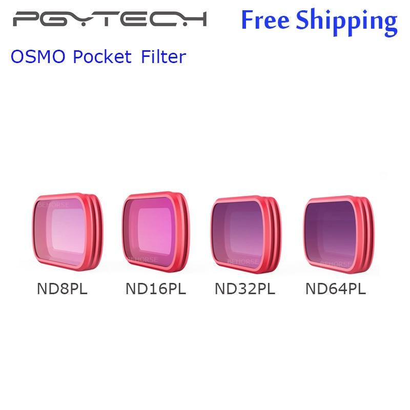 4 Pieces PGYTECH DJI OSMO Pocket Filter ND8PL ND16PL ND32PL ND64PL Filter OSMO Pocket Camera Filter