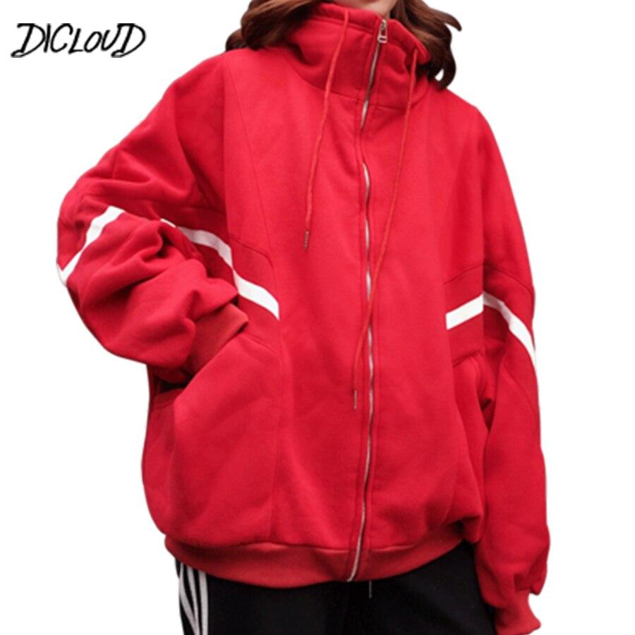 78a87e12b Harajuku Stitching Loose Baseball Jacket Women Streetwear Oversized Autumn  Jacket Woman Casual Red Black Plus Size Coat Outwear